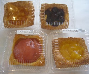ミレーのデニッシュ(りんご・チェリー・アプリコット・パイン)